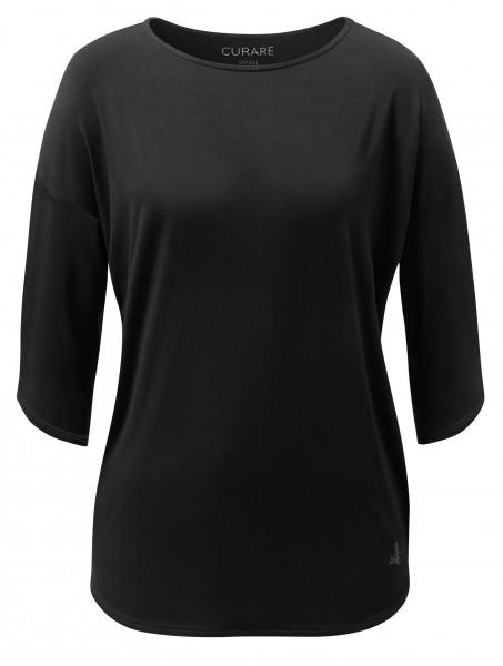 Flow #1105 shirt rounded bottom - black