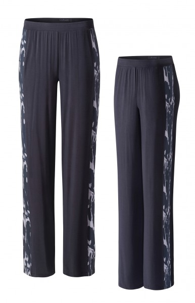 Flow #2105 pants wide galon stripe - midnight-blue/marbled print