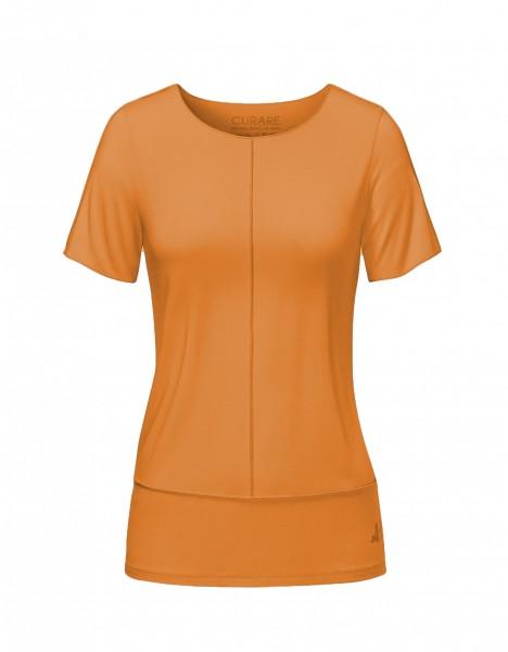 Flow #8204 Shirt mit Biesen - aprikose