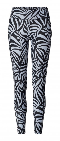 9 BRIGITTE Leggings High Waist - grafikprint blue
