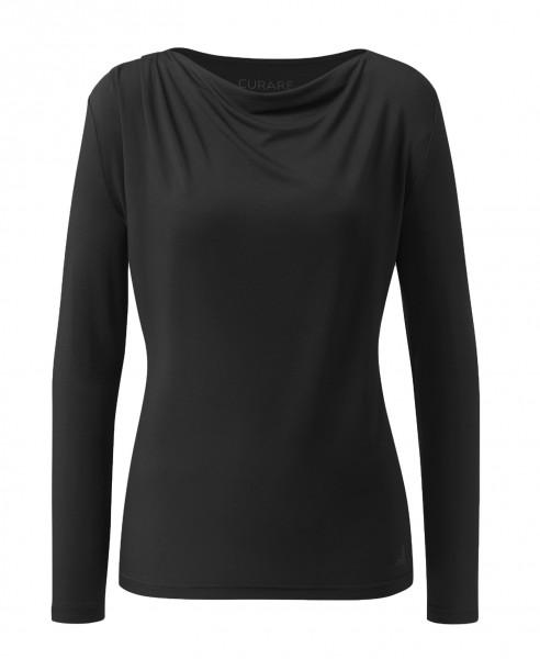 Flow #2275 Shirt waterfall 1/1 sleeves - black