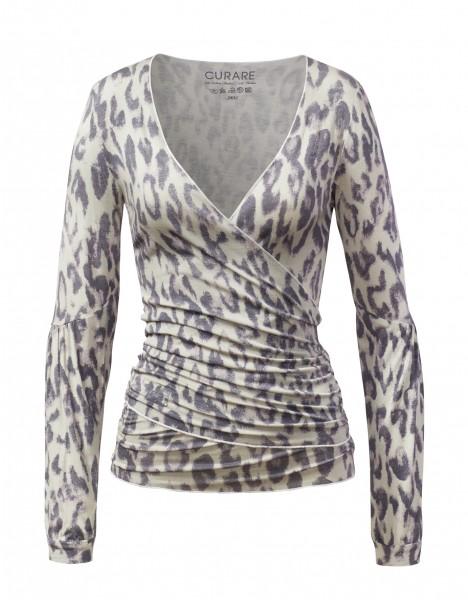 Flow #9243 Wrap Jacket - sand leopard