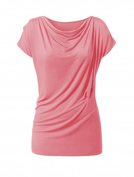 Flow #120 Shirt Wasserfall coral-rose