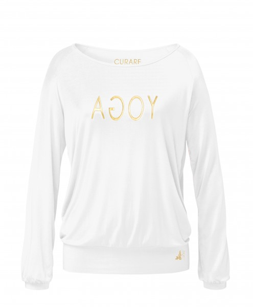 Flow #254 Shirt Langarm Raglan Gold Edition - white -