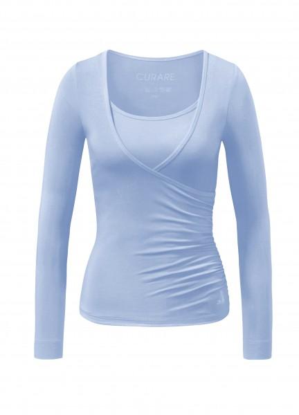 Flow #37 Wrap Shirt - blue moon