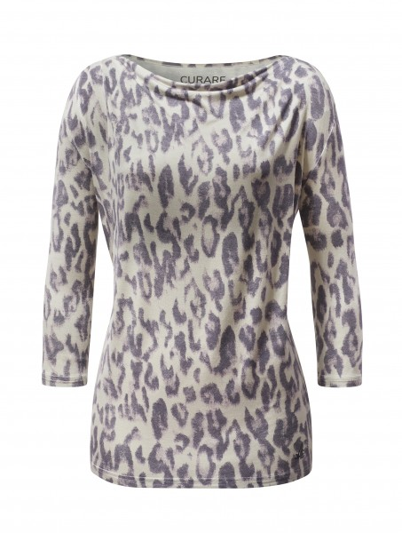 4 BRIGITTE Waterfall Shirt 3/4 Sleeves - ethno-leo