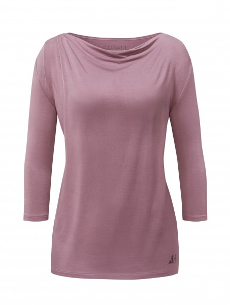 4 BRIGITTE Waterfall Shirt 3/4 Sleeves - violett-mauve