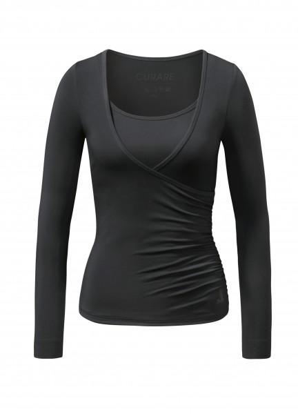 Flow #37 Wrap Shirt - black