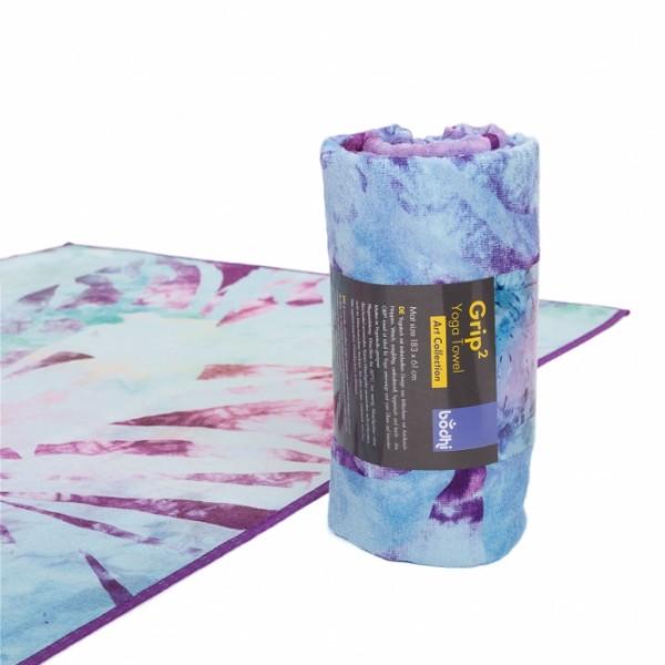 Yogatuch GRIP² - Arctic Leaves blau-batik