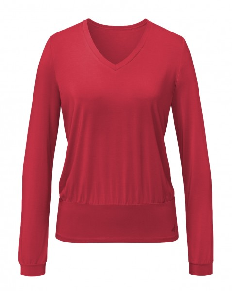 Flow #9123 Shirt V-Neck - cherry