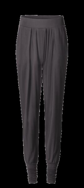 Flow #1204 Long Pants wide cuffs - grau aubergine