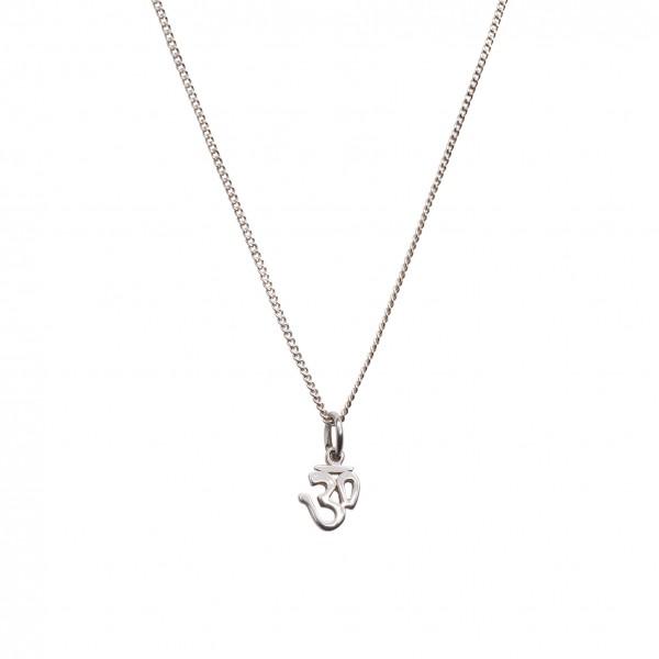 Silence Chain mit Anhänger Om Silber