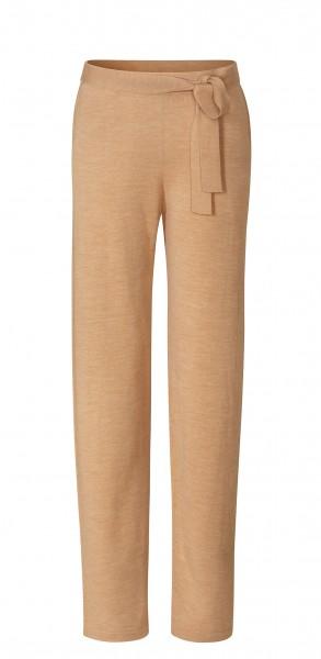 #8226 wide pants aus Merinowolle - camel-melange