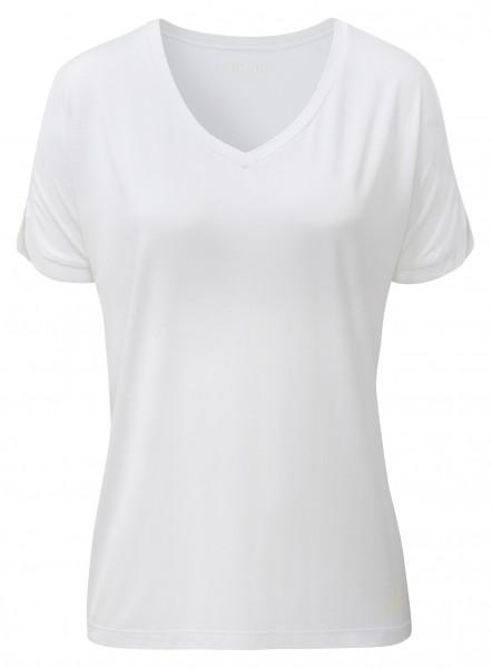 Flow #2240 v-neck shirt - white