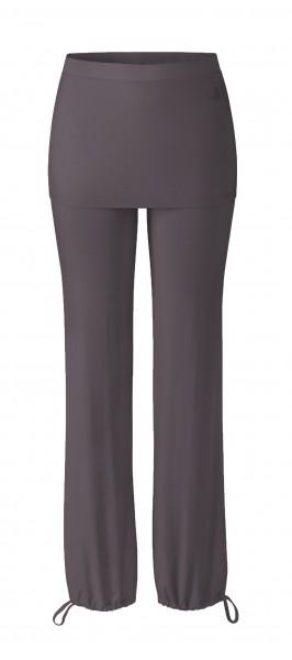 Flow #9247 Long Pants Skirt - aubergine