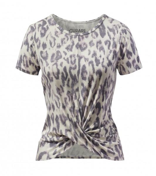 Flow #9233 Twisted Shirt - sand leopard
