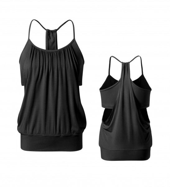 Flow #127 Open Top (Materialmix) - black