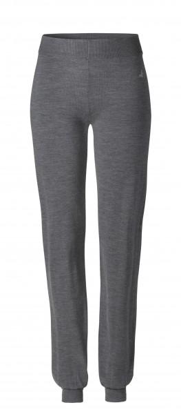 #502 Long Cosy Pants aus Merinowolle - anthrazit-melange
