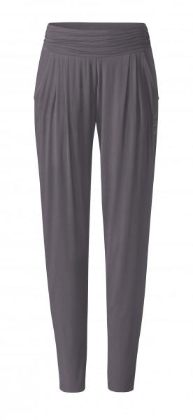 Flow #9248 Pants loose - grau aubergine
