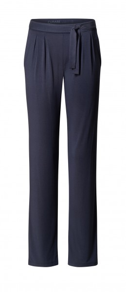 Flow #8222 Pants with Tie Belt - midnight-blue