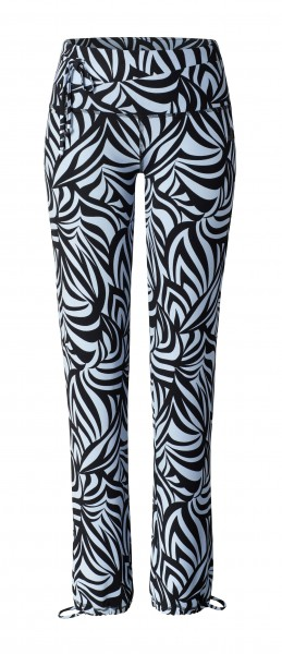 5 BRIGITTE Pants Straight - grafikprint blue