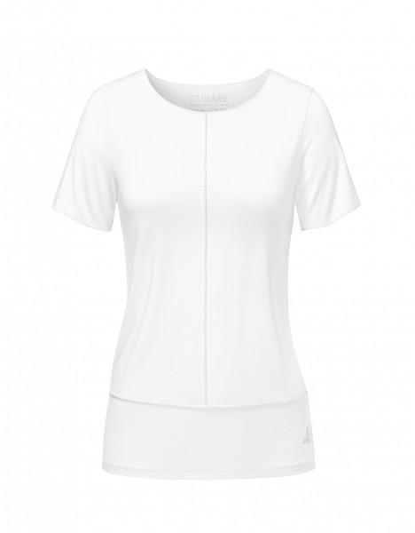 Flow #8204 Shirt mit Biesen - white