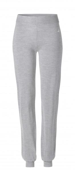 #502 Long Cosy Pants aus Merinowolle - lightgrey-melange