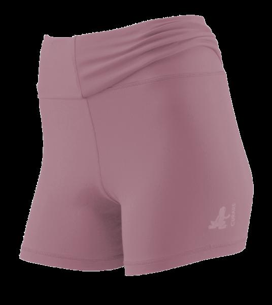 Breath #12 Roll Down Shorts - smoke-lavender