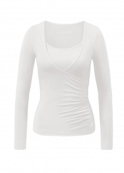 Flow #37 Wrap Shirt - soft-white