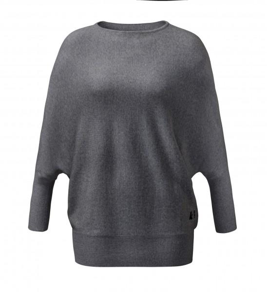 #500 Oversize Pullover aus Merinowolle anthrazit melange