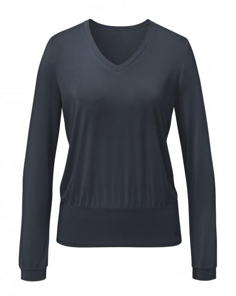 Flow #9123 Shirt V-Neck - midnight-blue