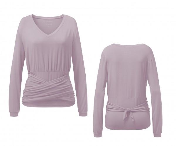 Flow #8205 Shirt mit Wickelschärpe - rose