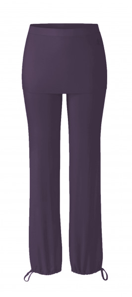 Flow #9247 Long Pants Skirt - dark-aubergine