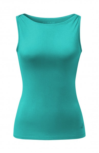 Flow #255 Tank Top Boat Neck - green lagoon