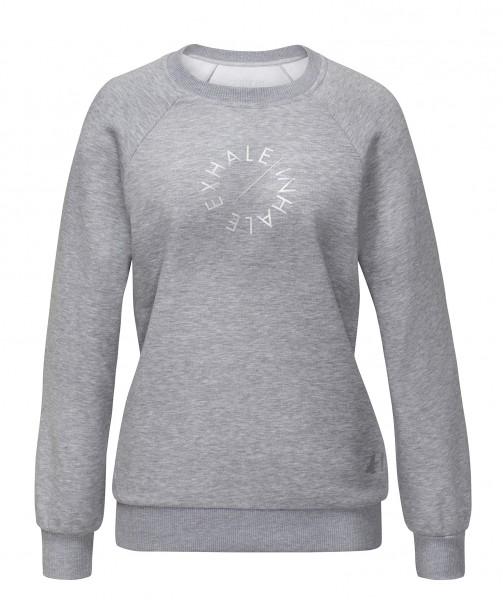 Sweat #8208 Raglanshirt mit Print - greymelange -