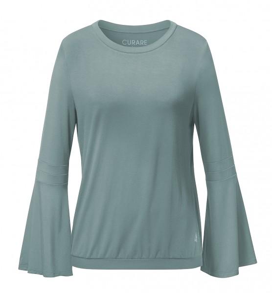 Flow #9103 Shirt Trumpetsleeves eukalyptus blue