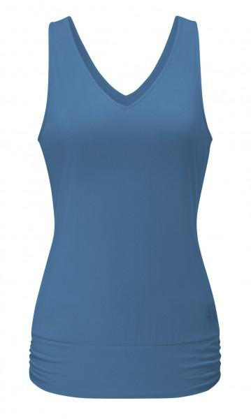 Flow #2113 Tanktop V-Neck - horizon blue