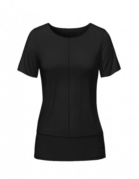 Flow #8204 Shirt mit Biesen - black