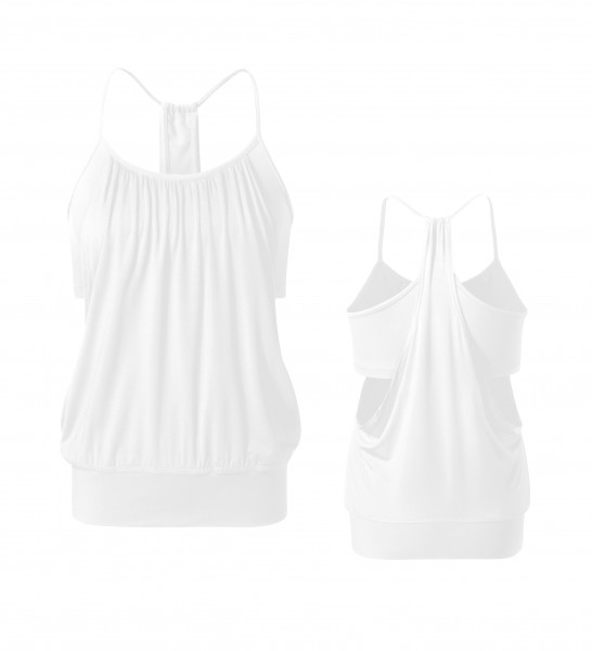 Flow #127 Open Top (Materialmix) - white