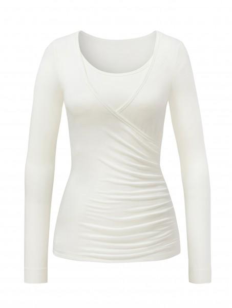 6 BRIGITTE Wrapshirt - pearl-white