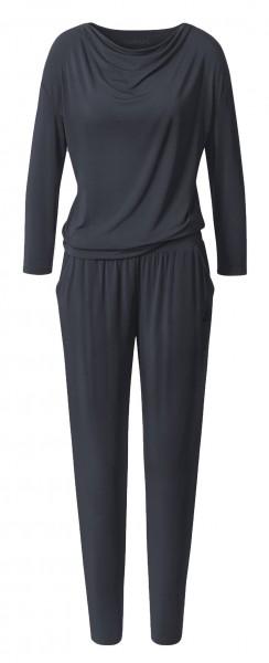 Flow #9217 waterfall jumpsuit long sleeves - midnight-blue