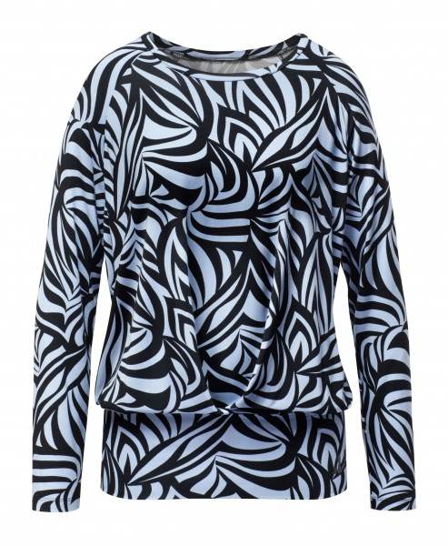 8 BRIGITTE Boxpleat Shirt - grafikprint blue