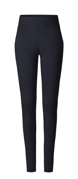 #503 Leggings aus Merinowolle - night-blue melange