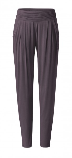 Flow #9248 Pants loose - aubergine