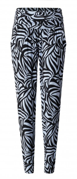 2 BRIGITTE long loose pants - grafikprint blue