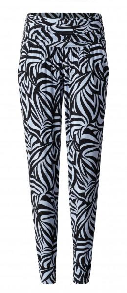 2 BRIGITTE long loose pants - grafikprint blue