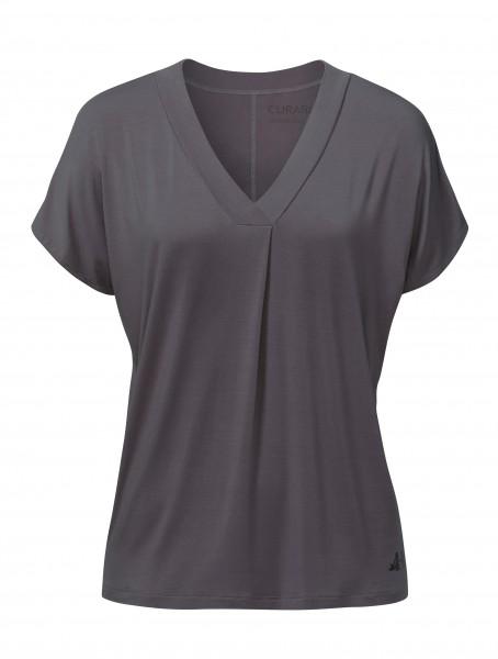 9 BRIGITTE Yoga T-Shirt - aubergine-grey