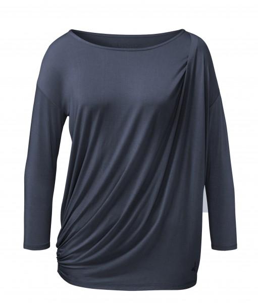 Flow #251 Shirt mit Togafalte - night-blue