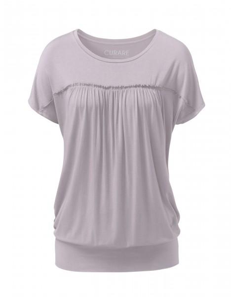 Flow #267 Shirt mit gekräuseltem Vorderteil - puder
