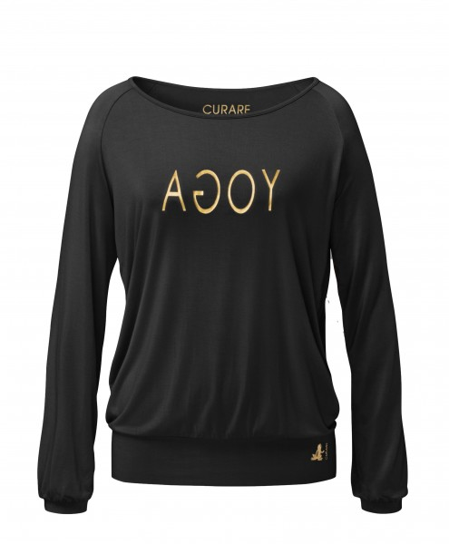 Flow #254 Shirt Langarm Raglan Gold Edition - black